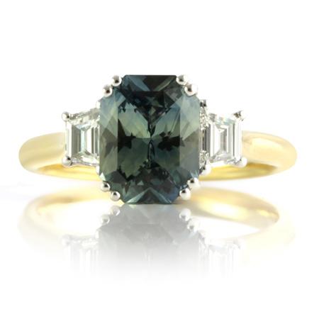 Radiant-Cut-Sapphire-Trapezoid-Diamond-Ring-bentley-de-lisle