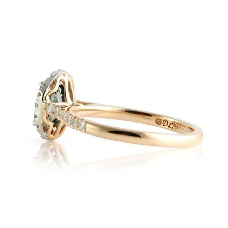 Teal-green-australian-sapphire-halo-ring-bentley-de-lisle-brisbane