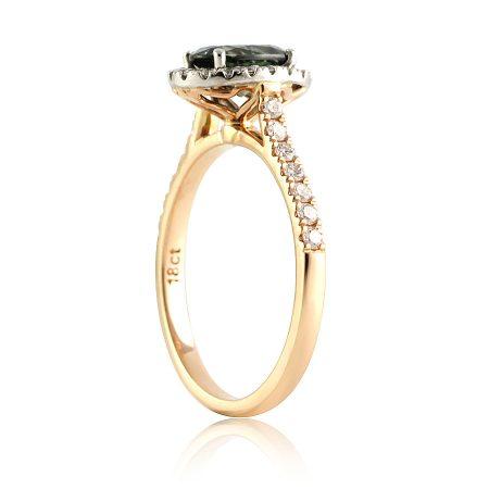 Teal-green-australian-sapphire-halo-ring-bentley-de-lisle-brisbane-jeweller