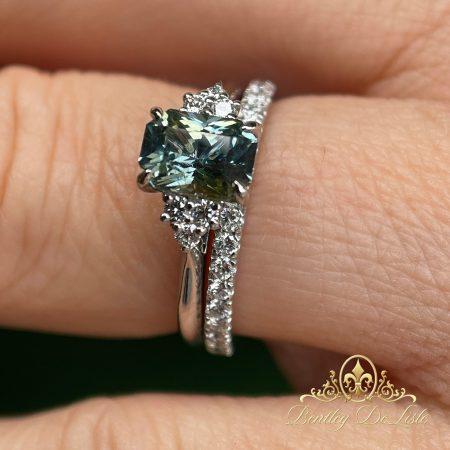 Yellow-blue-sapphire-diamond-ring-bentley-de-lisle-weding-band